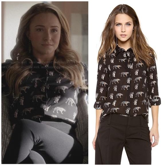 ca58146c05bcca Alice + Olivia Tops   Alice Olivia Willa Tiger Print Shirt Top M ...